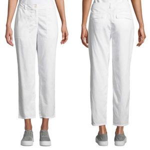 Eileen Fisher Ivory Ankle Pants
